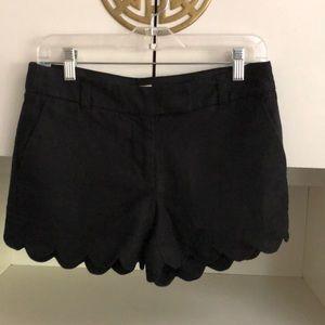 J.Crew black scalloped hem shorts 2